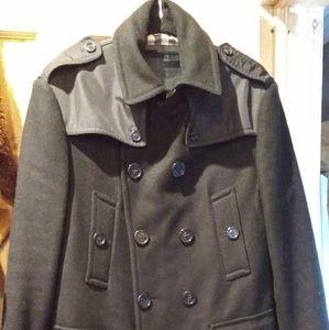 Burberry wool coat sz xl